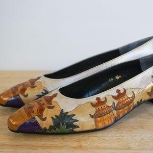 Margaret Jerrold Vintage Low Heel Pumps / Size 10